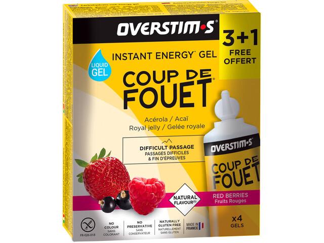 OVERSTIM.s Coup de Fouet Liquid Gel Box 3+1 Free 4x30g, Red Berries
